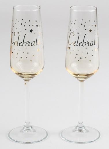 Rakle 195 cc Celebrate 2'li Şampanya Kadehi Seti Sarı Sarı